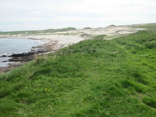 Уэстрей, UK: Westray Grobust beach -sand covering the archaeology by erosion
