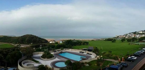 The Woolacombe Bay Hotel: View from the loft suite - unbelievable room with stunning views