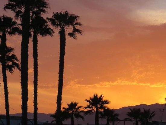 Muscle Beach: Sunset at Santa Monica.