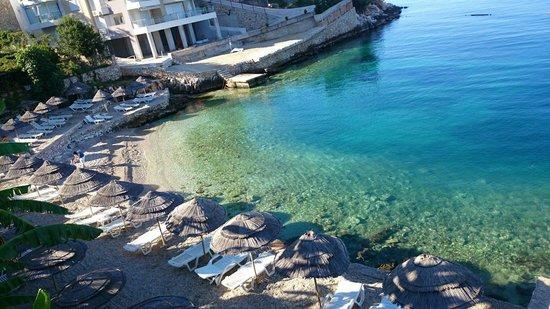 Hotel Maestral: Hotelowa plaża