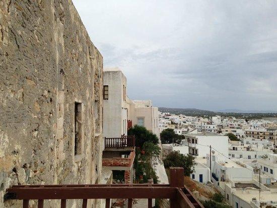 Città di Naxos, Grecia: view from the balcony