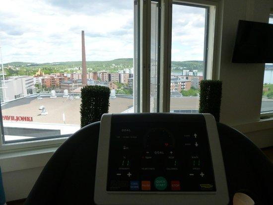 Solo Sokos Hotel Paviljonki: view from the gym