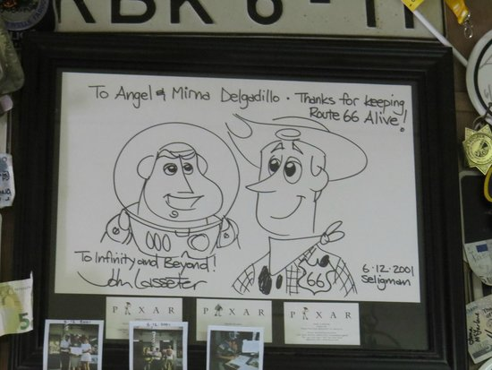 Angel & Vilma Delgadillo's Route 66 Gift Shop & Visitor's Center: He was welcomed as well.
