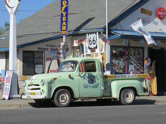 Angel & Vilma Delgadillo's Route 66 Gift Shop & Visitor's Center: James Dean and Elvis...in one pick up!