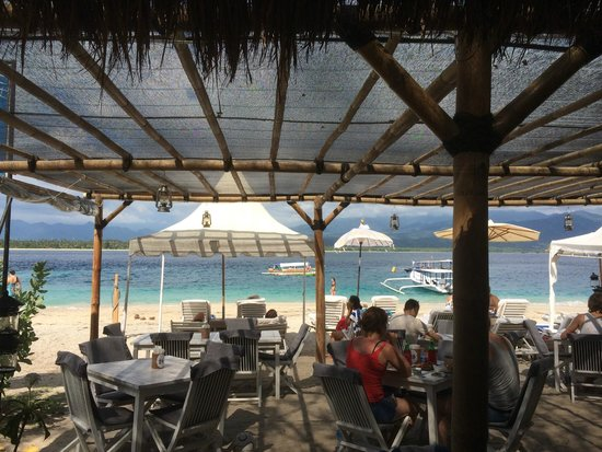 Scallywags Beach Club: View from the bar
