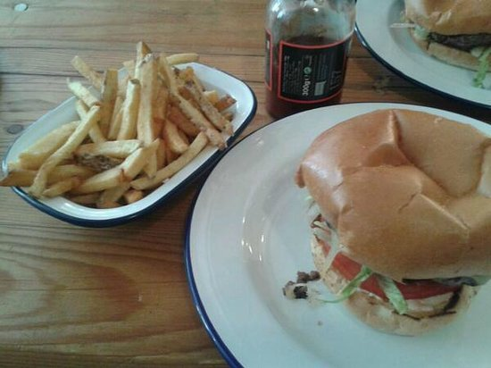 The Alexandra Arms: Burger, fries & 'house red' ketchup