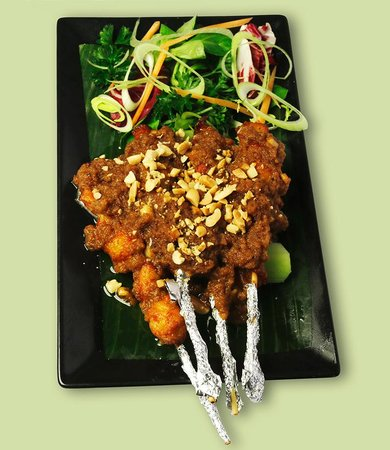 The Rose & Thistle: Chicken Satay Skewers