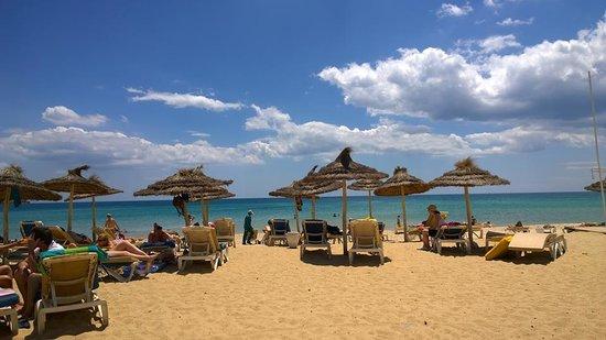 Saphir Palace & Spa : la mer est tres propre et belle