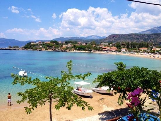 view from pefko taverna stoupa