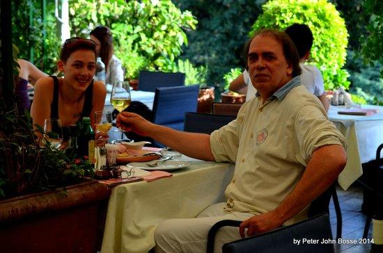 Ristorante da Gino: me and my daughter