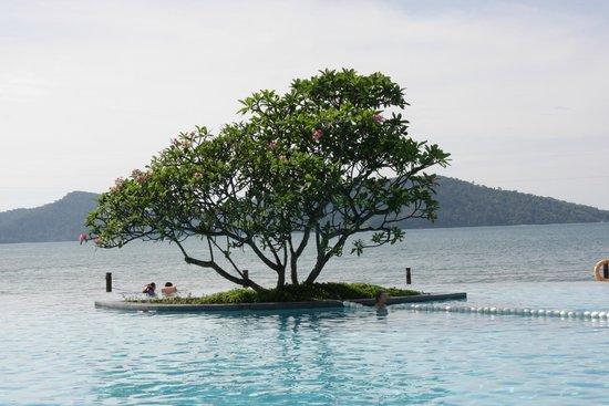 Shangri-La's Tanjung Aru Resort & Spa: Infinity pool with ocean behind
