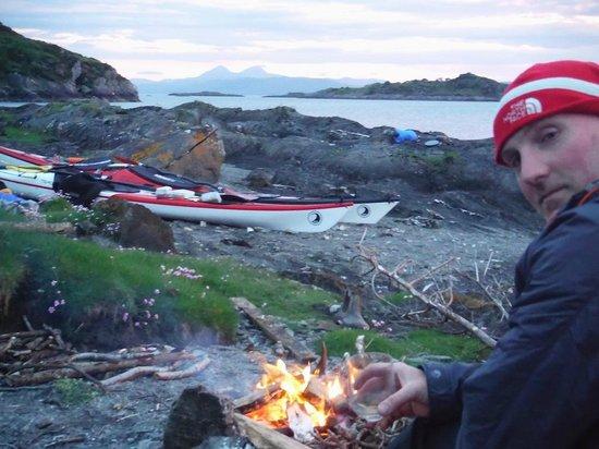 Sea Kayak Argyll: Enjoying a Jura overlooking Jura
