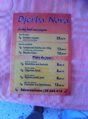 Djerba Nova: Une petite proposition par notre chef Imed des plats tunisien fait maison