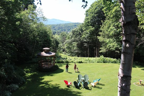 Timberholm Inn: The view from the door of our room