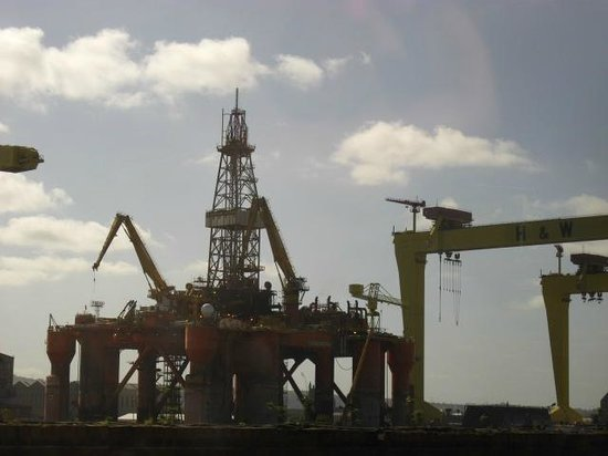 Causeway Coastal Route: Harland and Wolff - drill platform