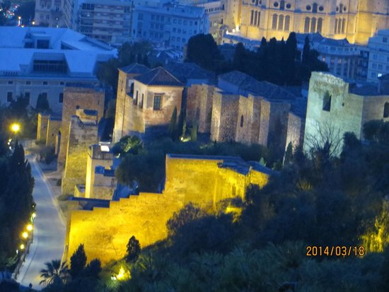 Alcazaba (fort) : Breathtaking view at night!