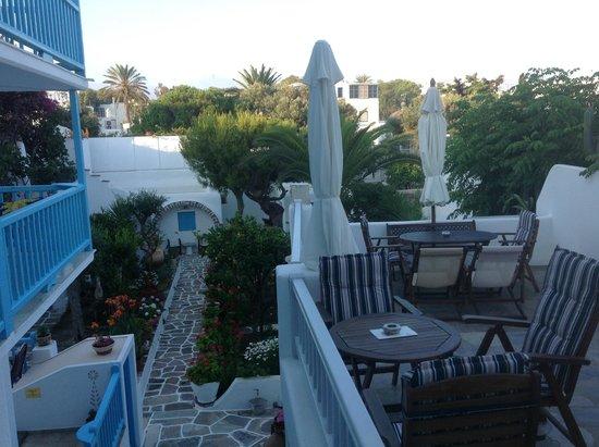 Philippi Hotel: Terrasse
