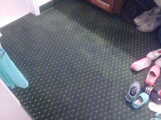 Hawthorn Suites By Wyndham Dayton Mall South Miamisburg: wet carpet in the bathroom bottom rooms will flood if it rains hard