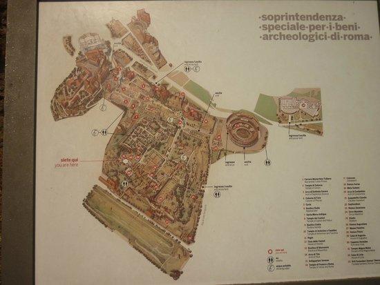 Foro Italico: Mapa do Foro