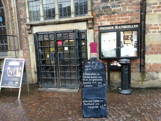 Bremer Ratskeller: Eingang Ratskeller Bremen