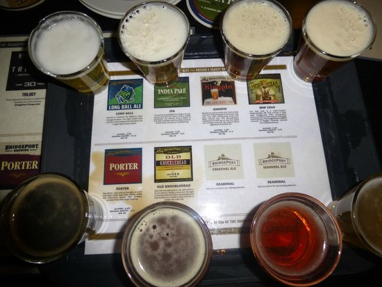 Bridgeport Brewery and Brewpub: The Sampler tray