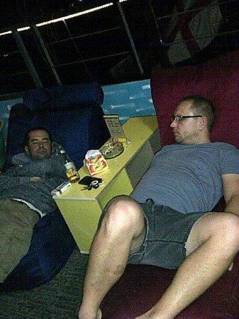 Anchor Roof Top Beer Garden: Too comfy till they fell asleep