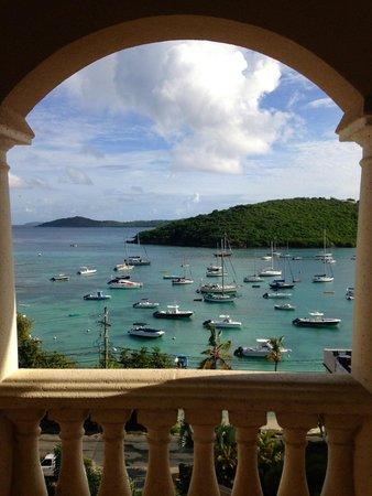 Grande Bay Resort: View of Cruz Bay from Grande Bay