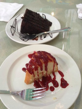 Flamingo Row: The best pieces of cake we've ever eaten, bar none.
