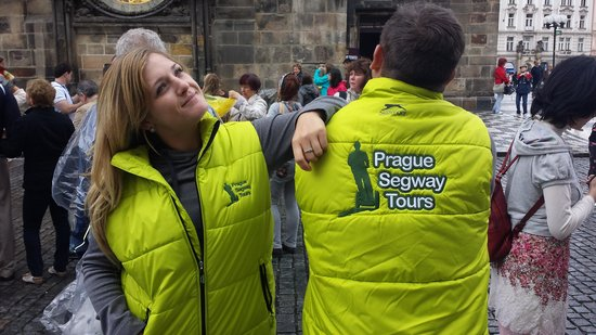 Prague Segway Tours : Made sure we were warm!