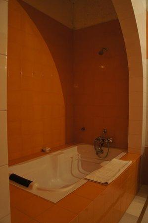 Hotel Chobdar Haveli : Très grande et propre salle de bain. Bons produits d'acceuil