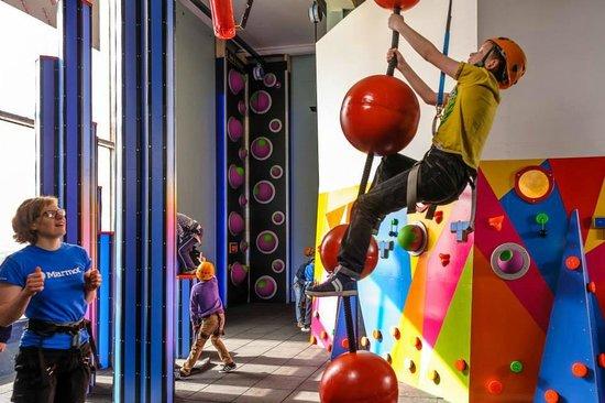 12 separate wacky fun climbing elements at Kendal CrazyClimb