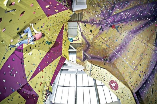 Kendal, UK: Tallest indoor climbing wall in the country.