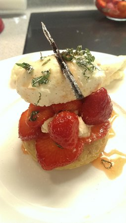Northcote Cookery School: Macerated Strawberries with Millefeuille and Vanilla Chantilly Cream