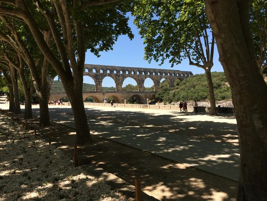 Pont du Gard : View from our snack spot