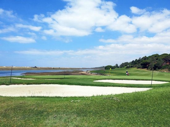 Vilar do Golf: A view over golf course towards the sea and sand dunes