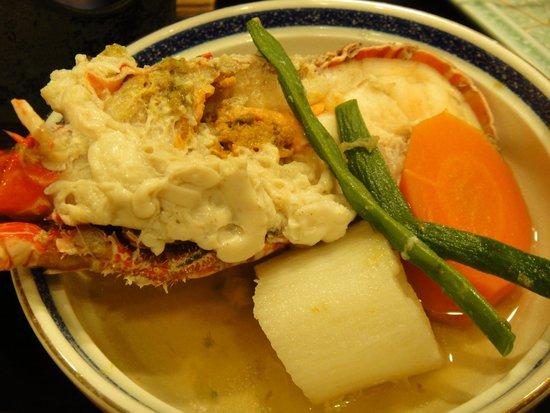Maruzen: 夕食伊勢エビ具足煮
