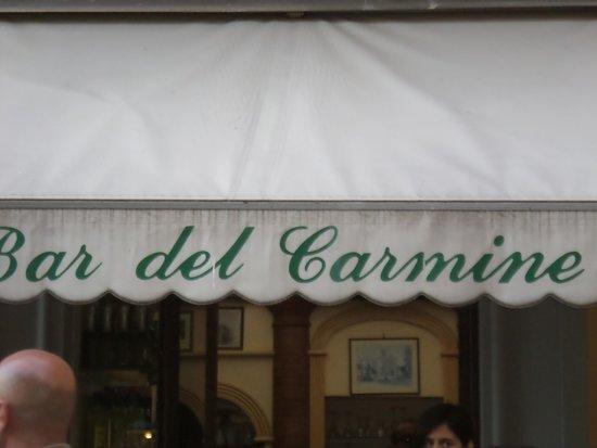Bar del Carmine : Front of the bar