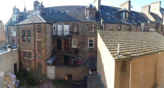 Columba Hotel, Inverness: View out our window.
