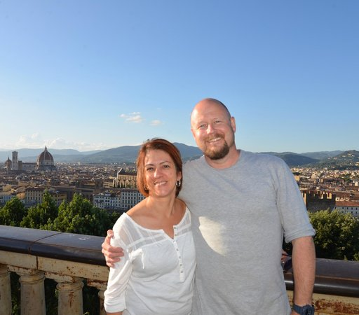 Hotel Ritz : Piazza Michaelangelo; one of many places we walked to