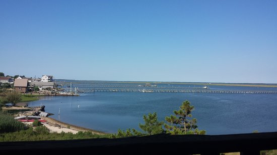 Waterside Inn : The beautiful view of the bay from our room balcony!
