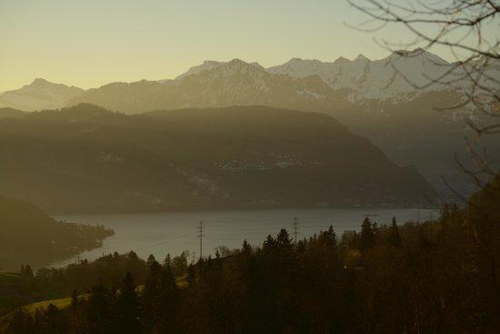 Hotel Himmelrich: Dawn over Lake Lucerne