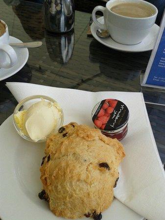 York Marina: Scone with jam and clotted cream.