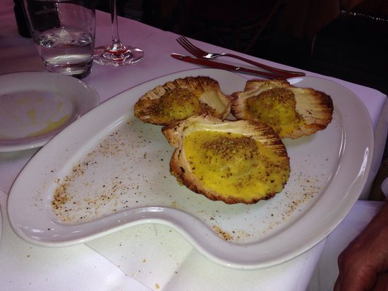 Trattoria i Siciliani: Scallops to start!