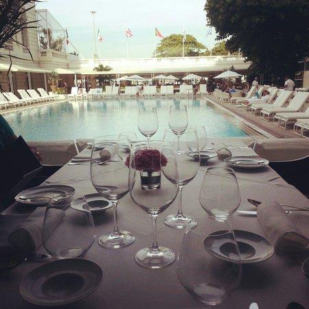 Hotel Cipriani Restaurant: Vista da mesa do restaurante.