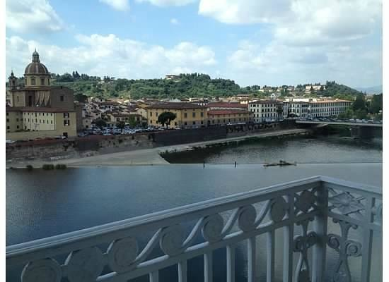 The Westin Excelsior Florence : Balcony with Arno view