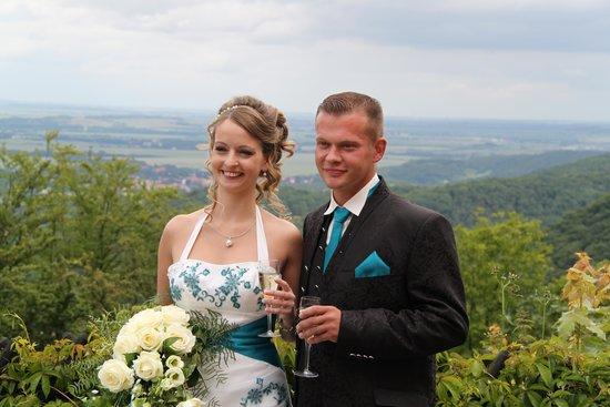 Berghotel Rosstrappe: Blick von der Terrasse nach der Trauung