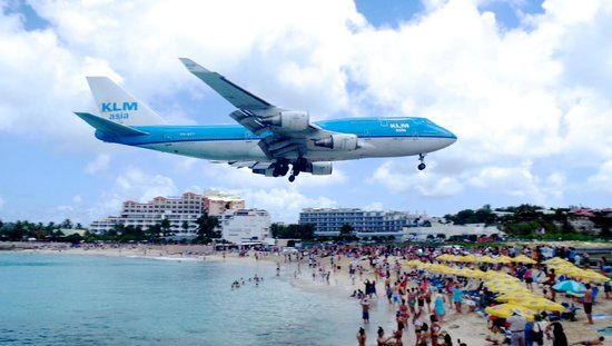 Maho, Sint Maarten: KLM