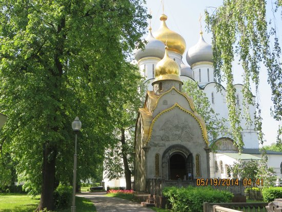 Novodevichy (New Maiden) Convent and Cemetery: Gorgeous domes