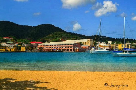 Hotel on the Cay : Christiansted from the beach
