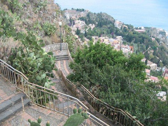 Steps into Taormina from near Sole Castello Hotel.